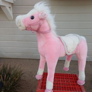 """XL 27"""" tall pink pony plush stand-up horse toy for Sale in Hesperia, CA"""
