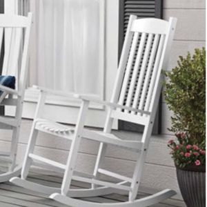 Mainstays Outdoor Wood Porch Rocking Chair, White Color for Sale in Chesapeake, VA