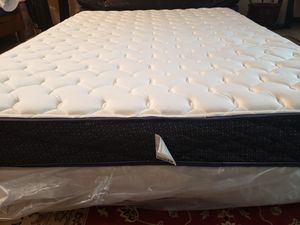 New Queen Bed Mattress set box spring bed frame for Sale in Lynnwood, WA