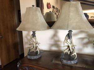 Set of antler table lamps. for Sale in Oak Hills, CA