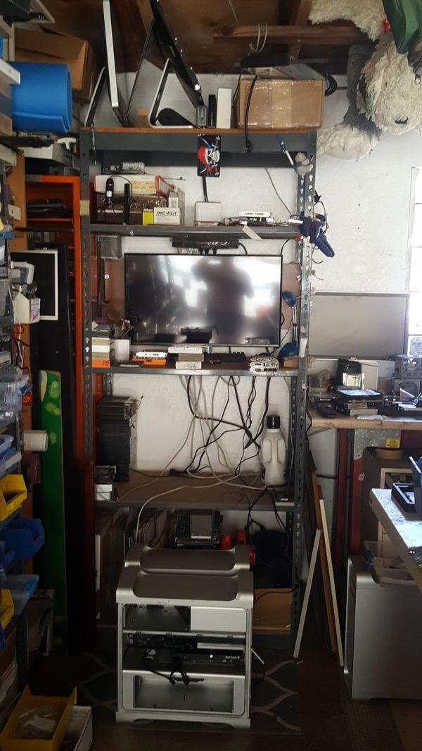 Riveted Steel Shelving Unit Storage - 5 shelf