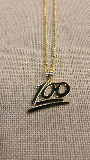 10k gold Figaro chain with 100 charm for Sale in Charlotte, NC