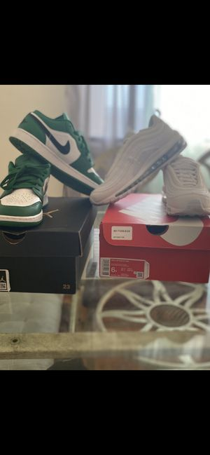 OBO- Nike - Air max/ all white... Jordan 1 Low/ Green, white and Black for Sale in Richmond, VA