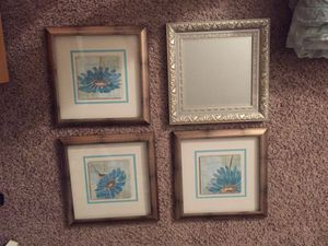 Framed prints and framed mirror for Sale in Cleveland, OH