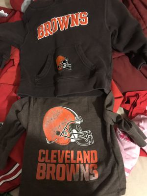 Cleveland Browns 12-18 month Long sleeve shirt and 2 T Hoodie for Sale in Mount Gilead, OH