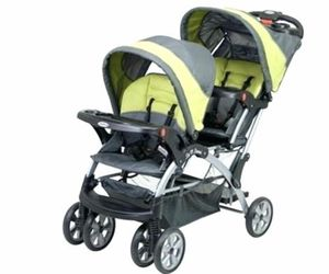 baby trend sit n stand double stroller with carseat for Sale in Philadelphia, PA