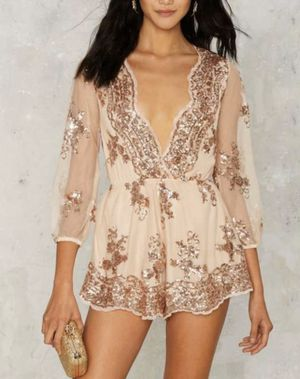 NWT- REVERSE - Life of the Party Sequin Romper for Sale in Brooklyn, NY