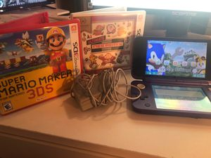 New Purple Nintendo 3DS w/ stylus and 2 Mario Games for Sale in Mount Pleasant, TX