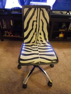 Zebra Rolling Desk Chair for Sale in Burlington, NJ