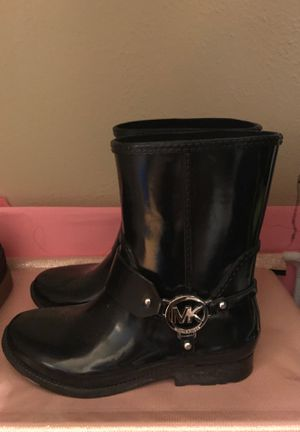 Michael Khors Leather Rain Boots for Sale in Mesquite, TX