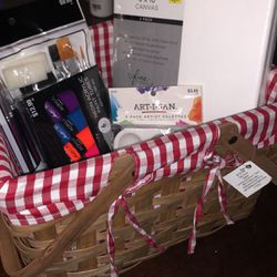 Art supplies + Picnic basket for Sale in Euless,  TX