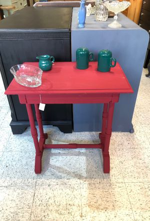 Small writing desk freshly painted cranberry sauce for Sale in Frederick, MD