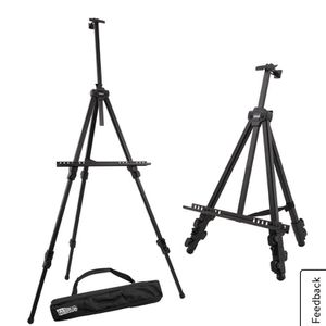 """U.S. Art Supply 72"""" Aluminum Tripod Artist Field and Display Easel Stand, Adjustable Height, Holds 52"""" Canvas, Tabletop for Sale in Chicago, IL"""