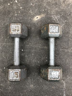 Dumbbells 15 lbs for Sale in Houston, TX