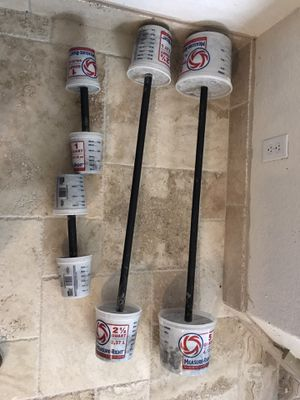 Concrete Weight Set Barbells and Dumbbells for Sale in San Antonio, TX