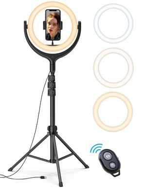 """10"""" Led ring light with 70"""" Tripod stand TP01 for Sale in Ontario, CA"""