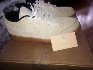 Jordan 1 Lows, White gum for Sale in West Orange, NJ