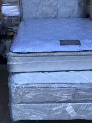 FULL SIZE ORTHOPEDIC EURO PILLOW-TOP BED BRAND NEW SUPER COMFY MATTRESS for Sale in La Mesa, CA