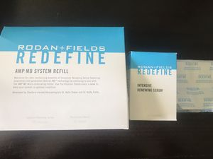 Rodan and Fields: Redefine Amp MD Refill System. (Intensive Renewing Serum and Purification tablets) Brand new in box. Retails for $120 Selling for for Sale in San Diego, CA