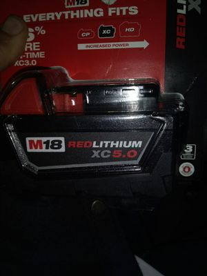 2 lithium xc 5.0 milwaukee for Sale in Point Blank, TX