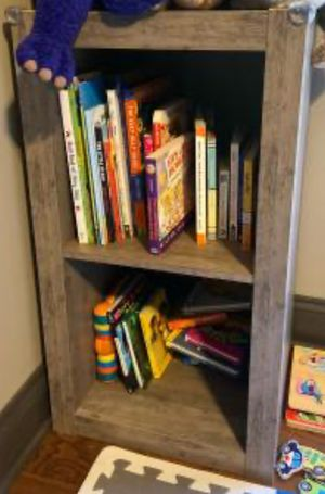 New!! Bookcase,Storage Unit,2 Cube Organizer,Shelf Unit-Rustic Gray for Sale in Phoenix, AZ