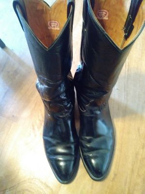 Nocono Cowboy Boots Black Size 10D with Vibram work soles used for Sale in Westerville, OH