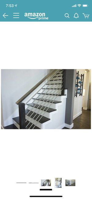 Horizontal rod stainless steel railing for Sale in Clifton, VA