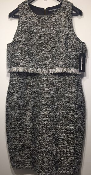 Karl Lagerfeld Paris Chanel inspired tweed dress size 16 for Sale in New York, NY