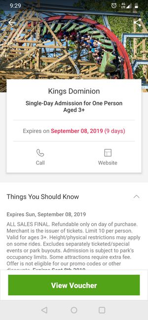 Kings Dominion Tickets for Sale in Richmond, VA