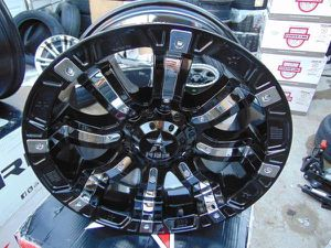 18X9 RBP Black Rims with Chrome Inserts DODGE *5X5.5*5X5*-12MM Offset* for Sale in Aurora, CO