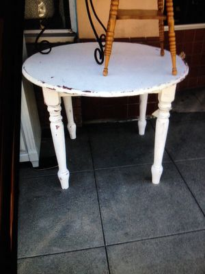 Shabby chic white kitchen dining table for Sale in San Diego, CA