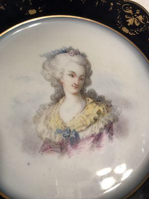 """Antique Sevres Chateau Des Tuileries 1846 Marie Antoinette 9 1/2"""" Portrait Plate for Sale in Grape Creek, TX"""