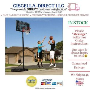 Kids Adjustable Portable Basketball Hoop 44 Inch Impact Outdoor Rim Goal Stand for Sale in Houston, TX