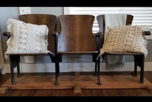 Wooden theater chairs for Sale in La Center, WA