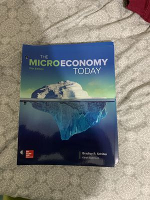 Microeconomics Textbook w/ workbook for Sale in Port Richey, FL