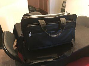 Black leather briefcase/shoulder bag for Sale in Las Vegas, NV