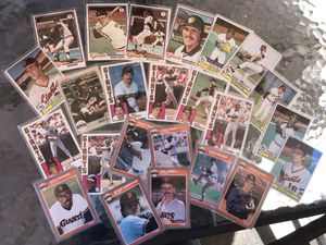 1978, 1979, 1983, 1984 & 1985 SAN FRANCISCO GIANTS TOPPS BASEBALL CARDS for Sale in Lafayette, CA