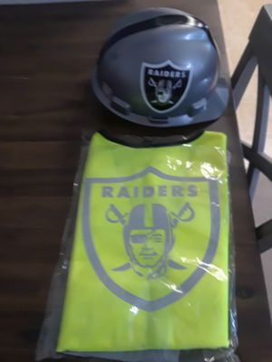 Raiders Safety Vest and Hard Hat for Sale in Fresno, CA