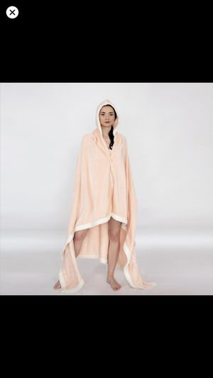 Ultra-Soft Snuggle Hooded Blanket Robe with Sherpa Trim for Sale in Los Angeles, CA