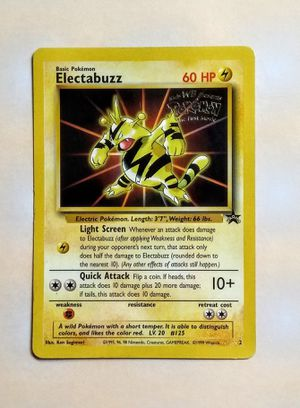 "1999 Pokemon - Electabuzz Black Star promo #2 from ""Pokemon: The First  Movie for Sale in Fenton, MO"