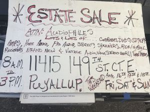 Audiophiles Dream Estate sale vintage stereo , home audio , pro audio , This weekend 8AM for Sale in Tacoma, WA