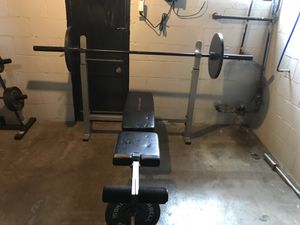 Weight bench heavy bad speed bag weights for Sale in McKees Rocks, PA
