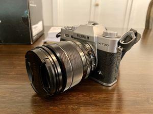 Fujifilm X-T20 Mirrorless Digital Camera w XF 18-55mm F2.8-4 R lens, silver for Sale in Mercer Island, WA
