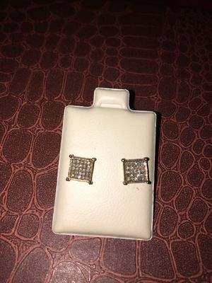 Sterling Silver Diamond Earring for Sale in Lutz, FL