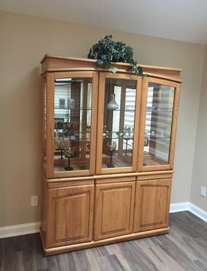 China cabinet oak for Sale in Pequannock Township, NJ