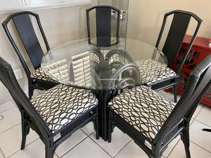 Glass Dining Room Table and Five Chairs for Sale in Hollywood, FL