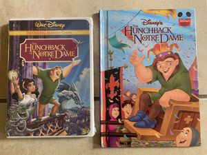 Hunchback of Note Dame dvd and book for Sale in Davenport, FL