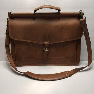 L.L. Bean Tan Leather Messenger Bag for Sale in Gainesville, FL