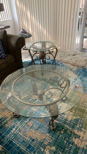 Glass topped Coffee Table and End Table Set for Sale in Delray Beach, FL