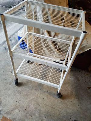 Rolling cart w/ shelves for Sale in Katy, TX